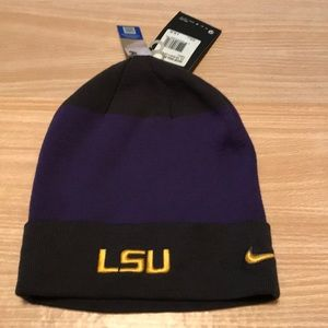 NWT Nike LSU beanie hat.